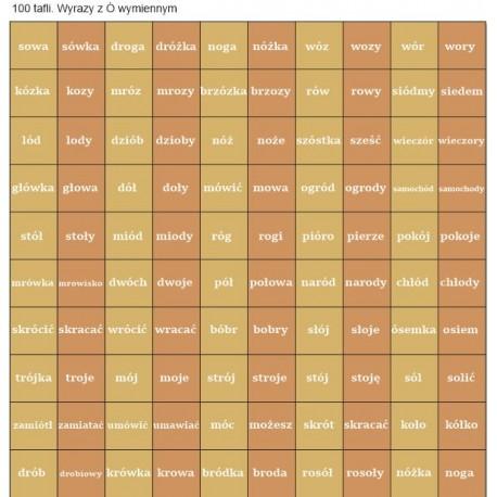 100 szt flashcards 12x12 - Ó wymienne