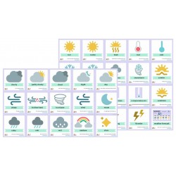35 szt flashcards 18x18 - Weather