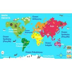 Mapa świata 143x90 cm