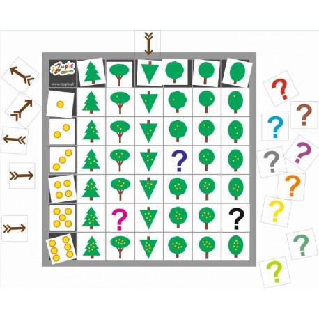 Plansza matematyczna do kodowania 7x7 kolumn