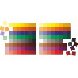 Kolorowe Tabliczki Montessori 128 szt i tablica kontrolna