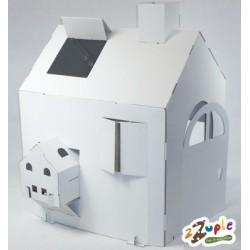 Domek z tektury (kartonu) - duży + mały