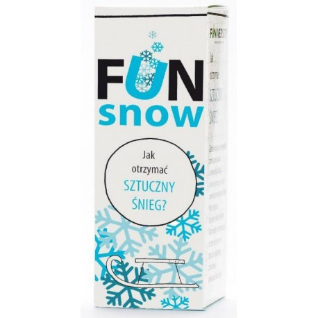 FUN snow - jak otrzymać SZTUCZNY ŚNIEG?