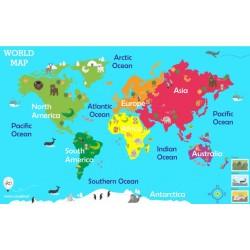 World map - 143x90 cm