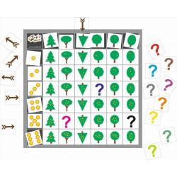 Drzewka domino - kodowanie na planszy 7x7