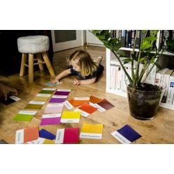 Karty trójdzielne Montessori 25 kolorów
